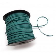 Шнур замшевый (искусственный). Цвет: бирюзовый. Артикул: ШН-8