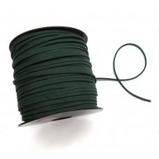 Шнур замшевый (искусственный). Цвет: темно-зеленый. Артикул: ШН-9