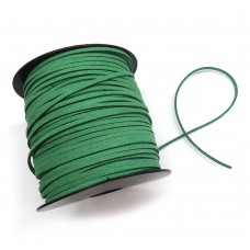 Шнур замшевый (искусственный). Цвет: зеленый. Артикул: ШН-7