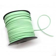Шнур замшевый (искусственный). Цвет: светло-зеленый. Артикул: ШН-6