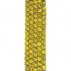 Стразовая цепь SS6. Золото. Цвет: желтый. Артикул: SS6-25.