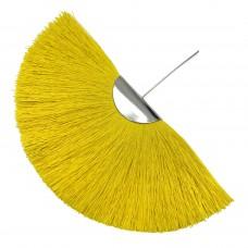 Веерная кисть. Шапочка - родий. Цвет: желтый. Артикул: 7924.