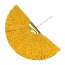 Веерная кисть. Шапочка - золото. Цвет: солнечный. Артикул: 7971.