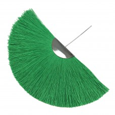 Веерная кисть. Шапочка - родий. Цвет: зеленый. Артикул: 7982.