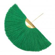 Веерная кисть. Шапочка - золото. Цвет: зеленый. Артикул: 7650.