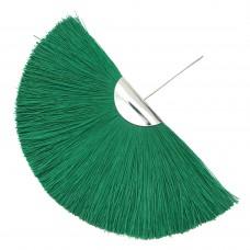 Веерная кисть. Шапочка - родий. Цвет: зеленый. Артикул: 7851.