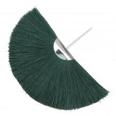 Веерная кисть. Шапочка - родий. Цвет: темно-зеленый. Артикул: 7903.