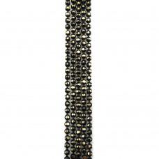 Цепи шарики с позолоченными гранями. 1,2 мм. Цвет: черный. Артикул: ЦГ2-1.