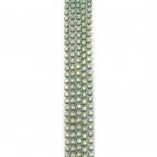 Цепи шарики с позолоченными гранями. 1,2 мм. Цвет: светло-зеленый. Артикул: ЦГ2-5.
