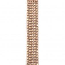 Цепи шарики с позолоченными гранями. 1,2 мм. Цвет: бежевый. Артикул: ЦГ2-6.