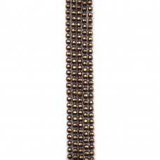 Цепи шарики с позолоченными гранями. 1,2 мм. Цвет: шоколадный. Артикул: ЦГ2-7.
