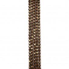 Цепи шарики с позолоченными гранями. 1,2 мм. Цвет: коричневый. Артикул: ЦГ2-8.