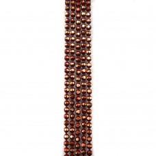 Цепи шарики с позолоченными гранями. 1,2 мм. Цвет: бордовый. Артикул: ЦГ2-9.