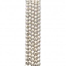 Цепи шарики с позолоченными гранями. 1,5 мм. Цвет: белый. Артикул: ЦГ-1.