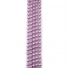 Цепи шарики с позолоченными гранями. 1,5 мм. Цвет: сиреневый. Артикул: ЦГ-10.