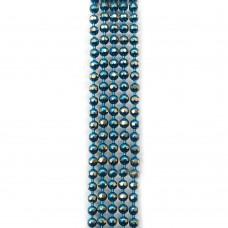 Цепи шарики с позолоченными гранями. 1,5 мм. Цвет: голубой. Артикул: ЦГ-12.