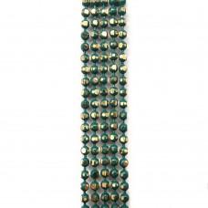 Цепи шарики с позолоченными гранями. 1,5 мм. Цвет: изумрудный. Артикул: ЦГ-13.