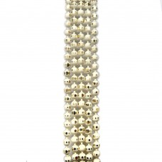 Цепи шарики с позолоченными гранями. 1,5 мм. Цвет: молочный. Артикул: ЦГ-2.