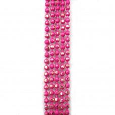 Цепи шарики с позолоченными гранями. 1,5 мм. Цвет: ярко-розовый. Артикул: ЦГ-5.