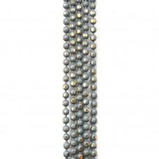 Цепи шарики с позолоченными гранями. 1,5 мм. Цвет: серый. Артикул: ЦГ-6.