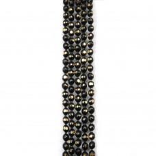 Цепи шарики с позолоченными гранями. 1,5 мм. Цвет: черный. Артикул: ЦГ-7.