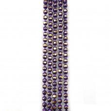 Цепи шарики с позолоченными гранями. 1,5 мм. Цвет: темно-фиолетовый. Артикул: ЦГ-8.