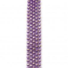 Цепи шарики с позолоченными гранями. 1,5 мм. Цвет: фиолетовый. Артикул: ЦГ-9.