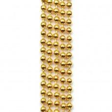 Цепочка с шариками. Желтое золото. Артикул: ЦШ-15.