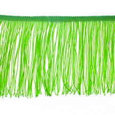 Бахрома полиэстер 15 см. Цвет: кислотно-зеленый. Артикул: P15-1-6