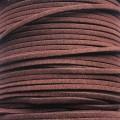 Шнур замшевый (искусственный). Цвет: коричневый. Артикул: ШН-14